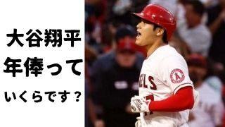 大谷翔平,メジャーリーグ,年俸,値段,いくら,推移,比較,安い